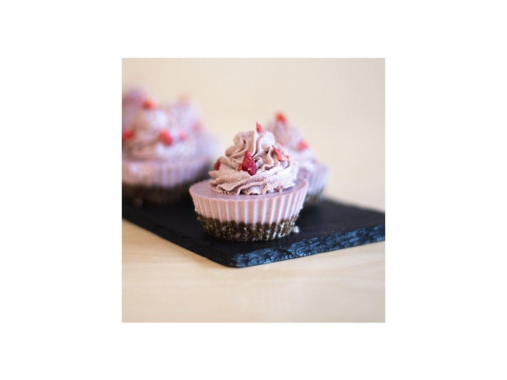 Raw jahodový cupcake (1 ks)