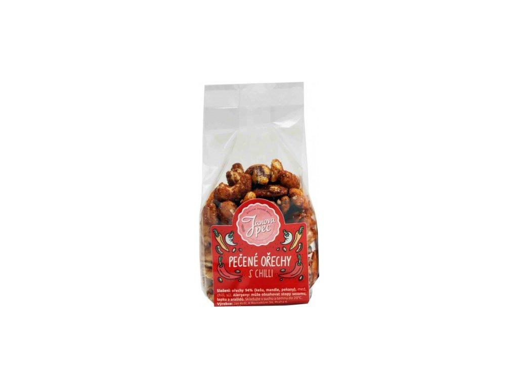 Pečené ořechy Janova pec - s chilli, s medem