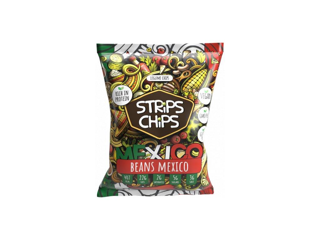 luštěninové strips chips beans mexiko
