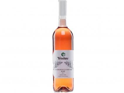 bio víno veritas růžové