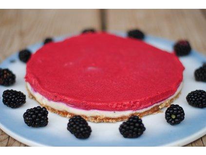 tvarohový blackberry raw vegan dort Ostrava (3)