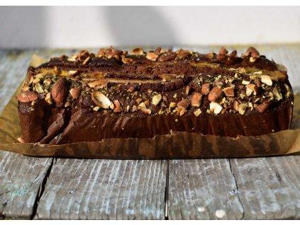 Bezlepkový banana bread s hořkou čokoládou a ořechy produkt