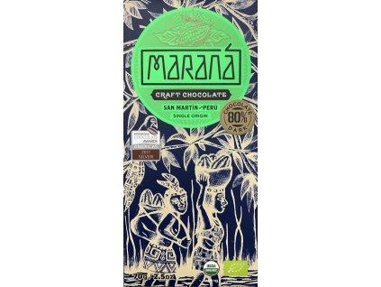 BIO čokoláda Maraná hořká 80 % San Martín - Peru 70 g