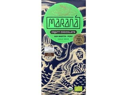 BIO čokoláda Maraná hořká 70 % San Martín - Peru 70 g