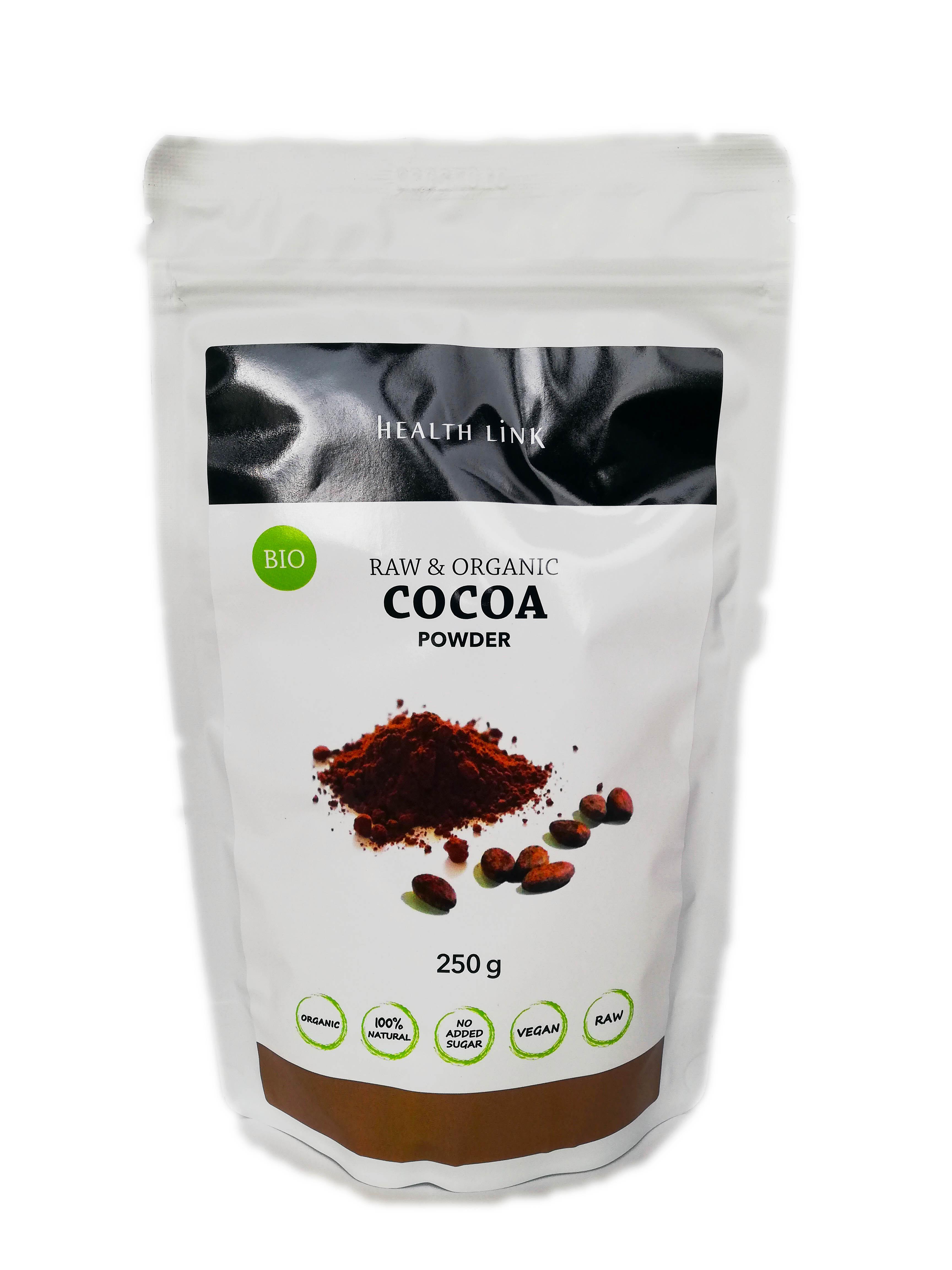 Health Link, s.r.o. Bio kakaový prášek Filipíny s 25% kakaové másla (250g)