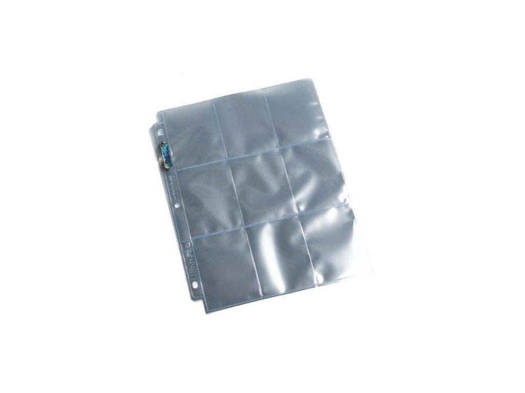 Ultra Pro stránka do alba 9 Pocket Platinum Series (1 stránka)