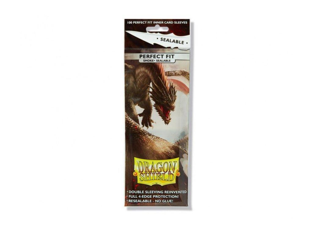 Dragon Shield obaly — Perfect Fit Sealable Smoke (100 kusů )