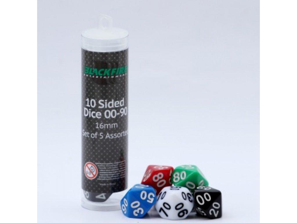 blackfire dice 16mm assorted d10 dice 00 90 5 dice 1