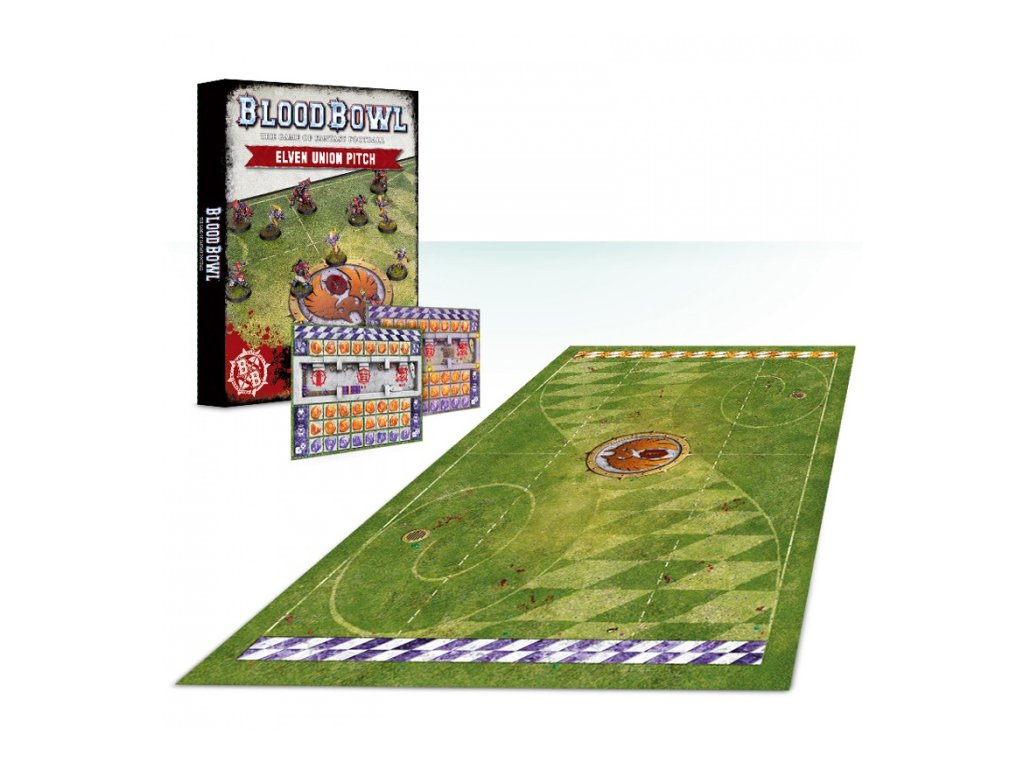 Blood Bowl Elf Pitch and Dugouts