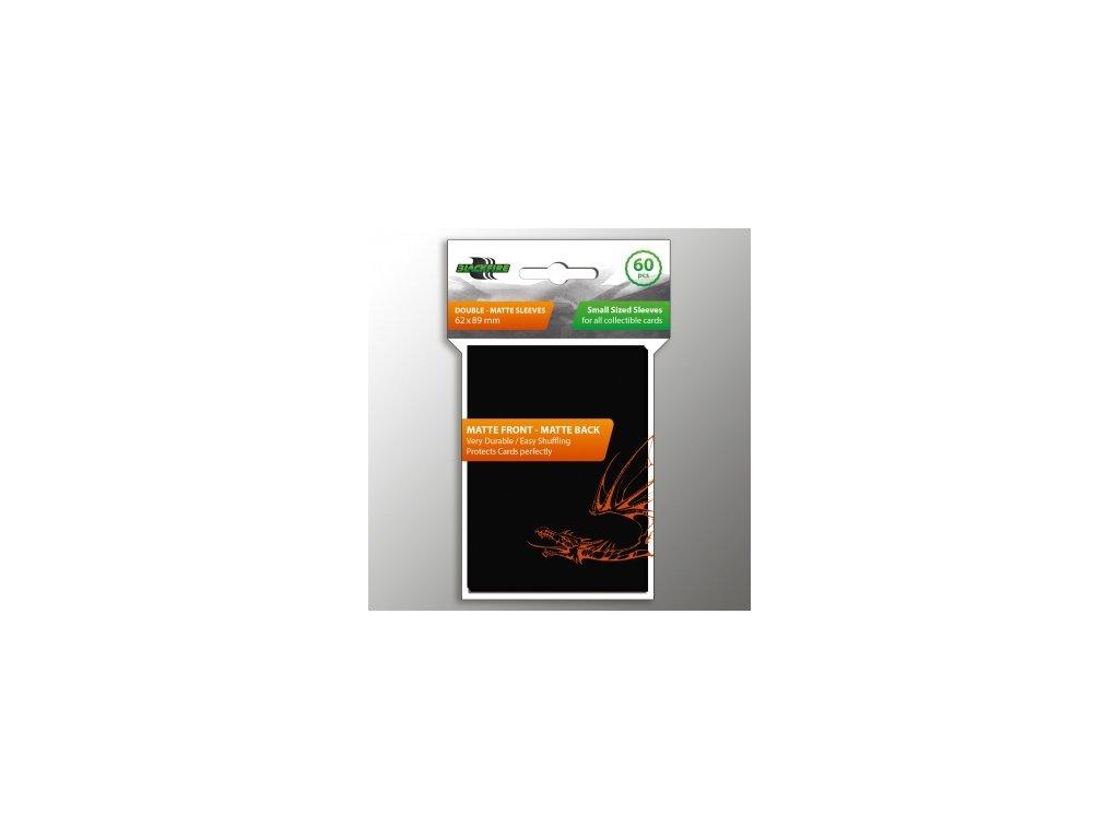 Blackfire obaly (62x89 mm) — Double-Matte černé (60 kusů)