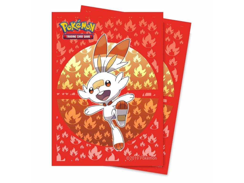 Obaly na karty Pokémon — Scorbunny (65 kusů)