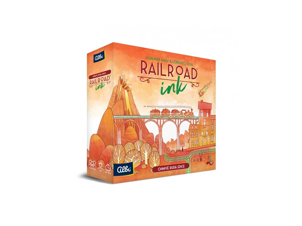Railroad Ink — Ohnivě rudá edice