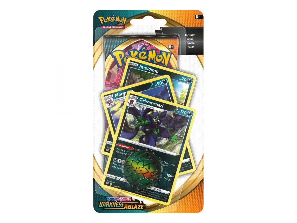Pokémon — Darkness Ablaze Premium Checklane Blister — Grimmsnarl