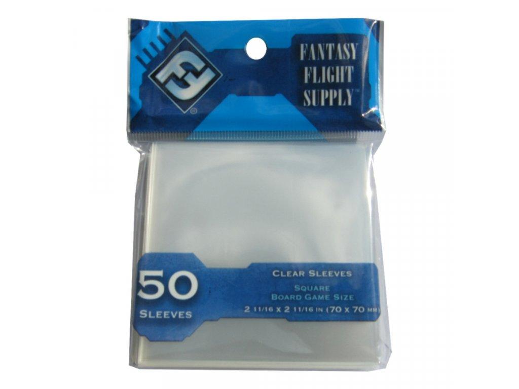 FFG FFS65 Square Board Game Sleeves Light Blue Fr 1