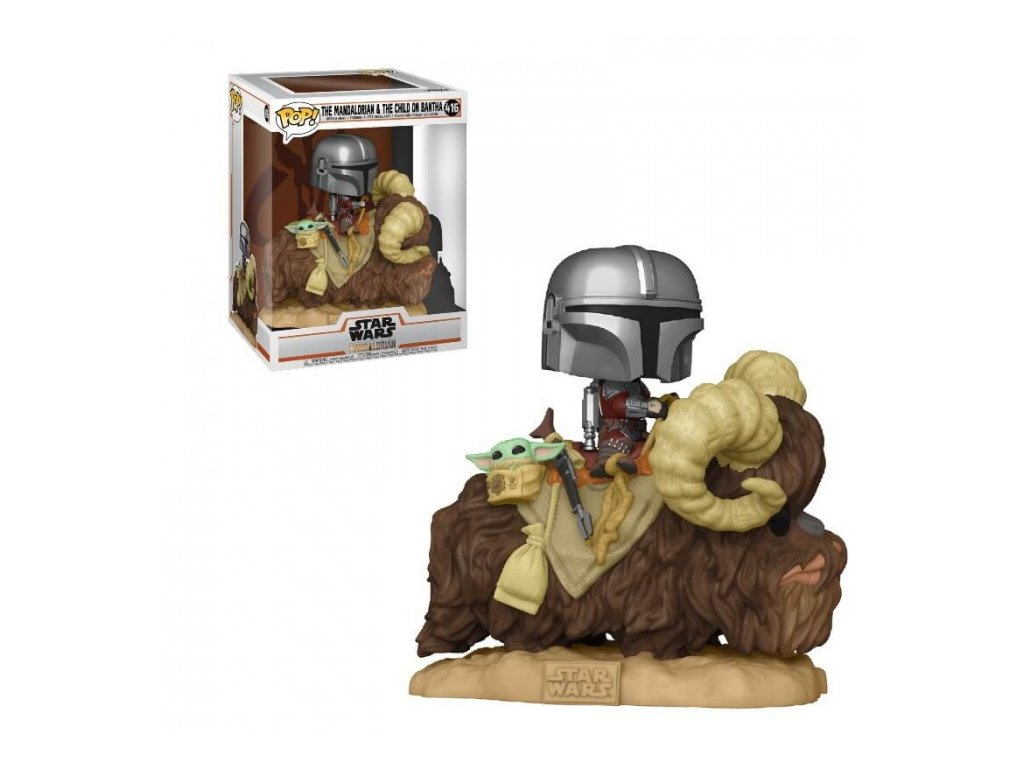 The Mandalorian — Mando on Bantha with Child in Bag (#416)
