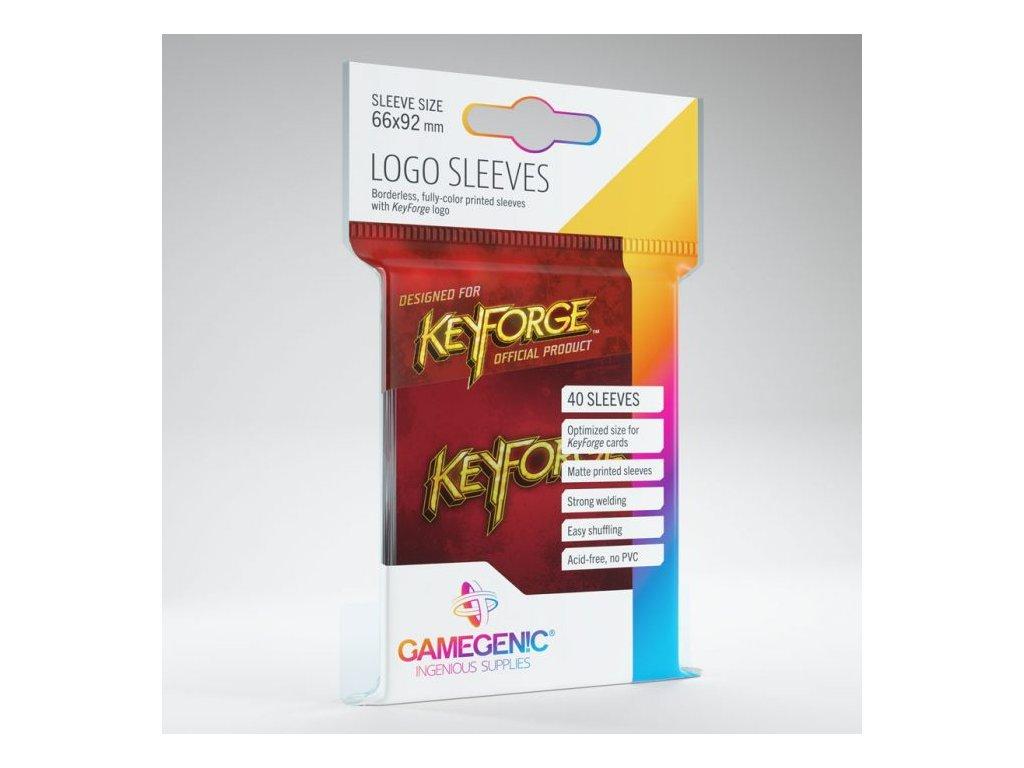 KeyForge Logo obaly — červené (40 kusů)
