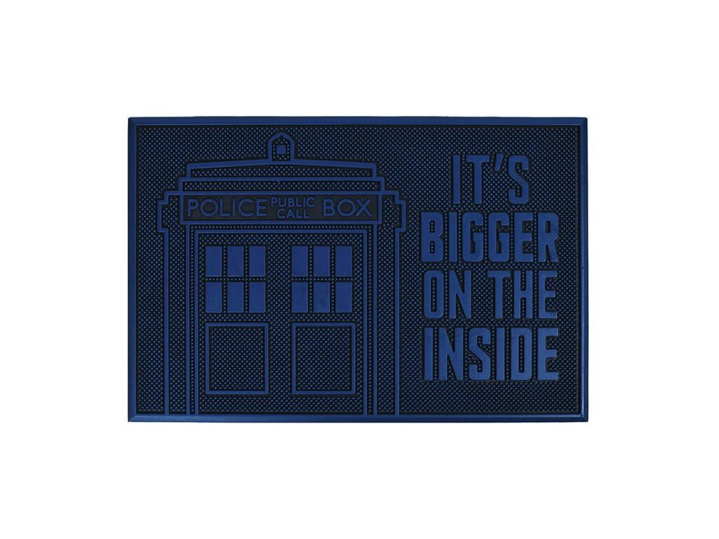 Gumová rohožka Doctor Who - Tardis (60 x 40 cm)