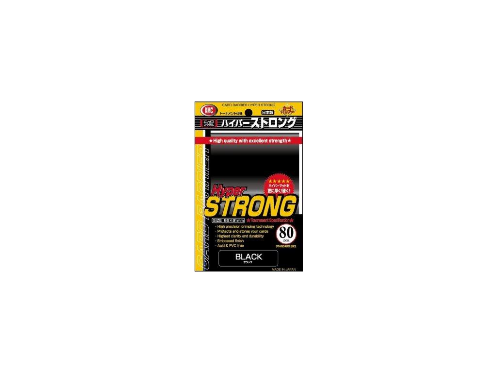 KMC obaly — Hyper Strong černé (80 kusů)