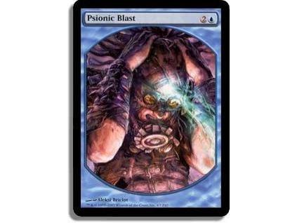 Psionic Blast - TEXTLESS (Foil NE, Stav Light Played)