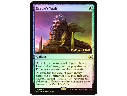 Oracle's Vault - PRERELEASE PROMO FOIL (Foil ANO, Stav Near Mint)