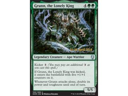 Grunn, the Lonely King - PRERELEASE FOIL (Foil NE, Stav Near Mint)