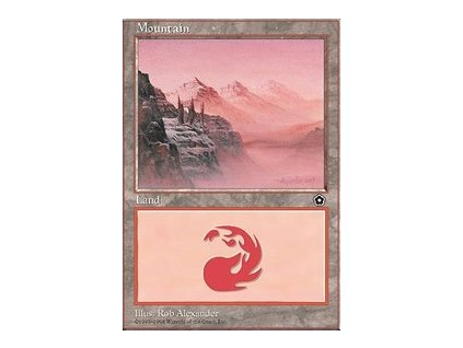 Mountain - HP (Foil NE, Stav Played)