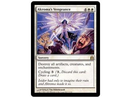 Akroma's Vengeance (Foil NE, Stav Light Played)