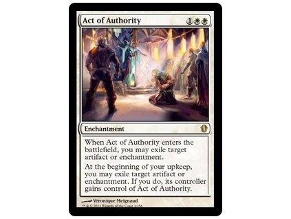 Act of Authority (Foil NE, Stav Near Mint)