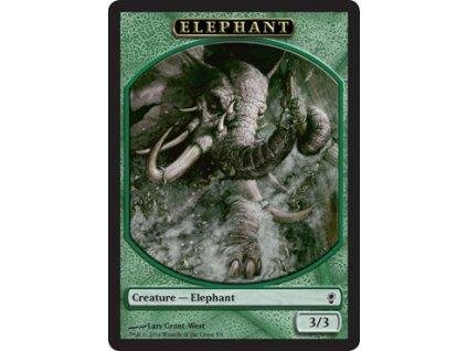 Elephant token (Foil NE, Stav Near Mint)