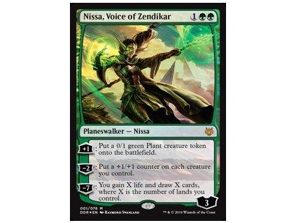 Nissa, Voice of Zendikar - DD FOIL (Foil NE, Stav Light Played)