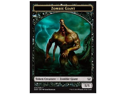 Zombie Giant Token (Foil NE, Stav Near Mint)
