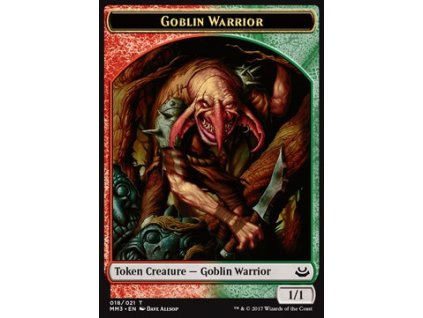 Goblin Warrior Token (Foil NE, Stav Near Mint)
