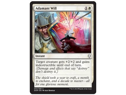 Adamant Will (Foil NE, Stav Near Mint)