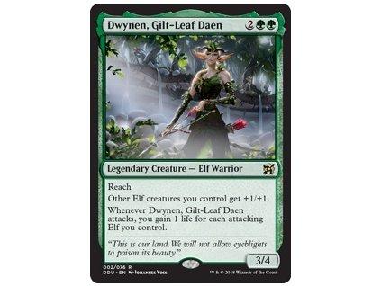 Dwynen, Gilt-Leaf Daen (Foil NE, Stav Near Mint)