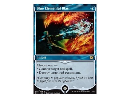 Blue Elemental Blast (Foil NE, Stav Near Mint)