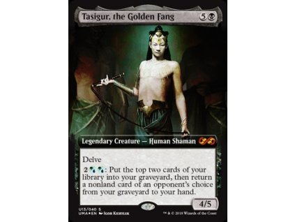 Tasigur, the Golden Fang - ULTIMATE BOX TOPPER (Foil NE, Stav Near Mint)