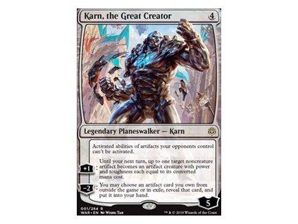 Karn, the Great Creator (Foil NE, Stav Near Mint)