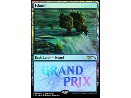 Island - PROMO Grand Prix FOIL (Foil NE, Stav Near Mint)