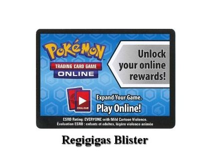 Online Code Card Forbidden Light Regigigas Blister