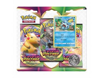 pokemon tcg swsg vivid voltage 3 pack blister sobble 5fb672732b508