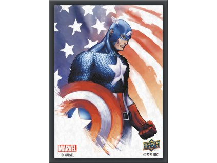 marvel captain america sleeves 65 count