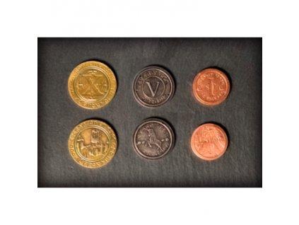 Set 50 kovových mincí
