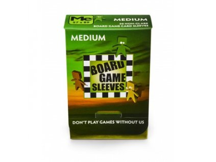 Board Games Sleeves — Medium (57x89mm) — 50 obalů