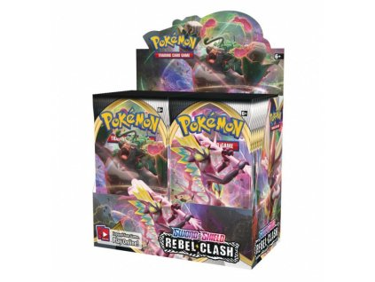 Pokémon Sword and Shield — Rebel Clash Booster Display (36 boosterů)