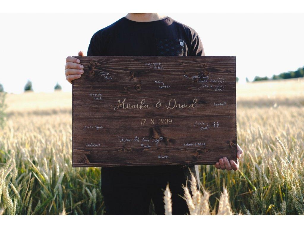 Dřevěná cedule na podpisy - Klasik
