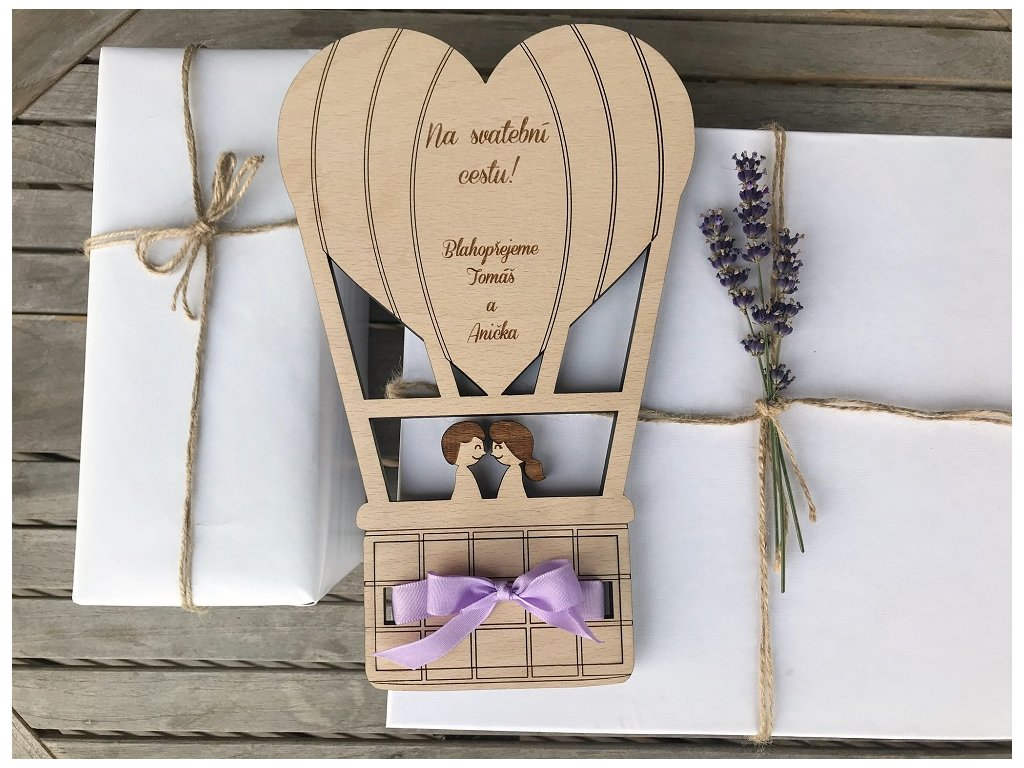 Krabička na peníze - Balón pro zamilované