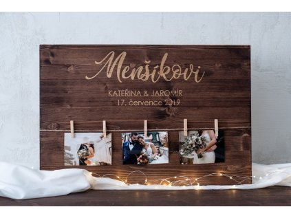 Paletová cedule svatebních fotografií