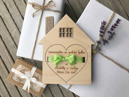 Krabička na peníze - Domeček