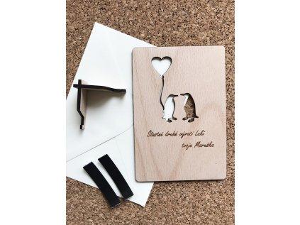 Přáníčko - Zamilovaní tučňáci