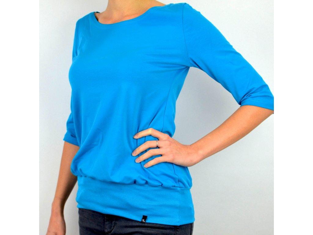 Tričko podkasané - modré